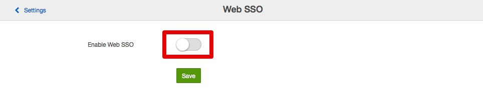 Enable Web SSO